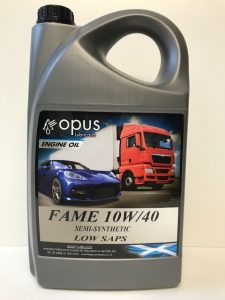 1L Opus Engine Oil Fame 10W/40 Semi-Synthetic Low Saps