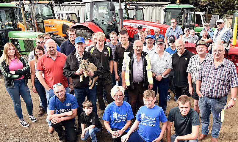 Opul Lubricants sponsored tractor drive Kirkby Thore, Cumbria