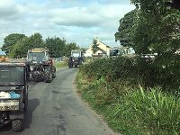 The Opus Lubricants' sponsored tractor run on the move!