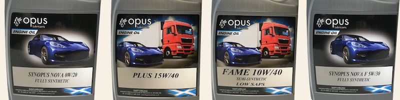 Opus Lubricants engine oils UK