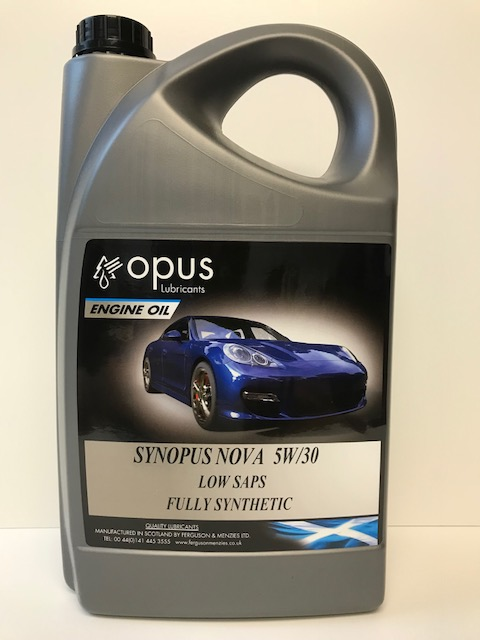 Opus Lubricants Synopus Nova 5W30 Low Saps Fully Synthetic Engine Oil